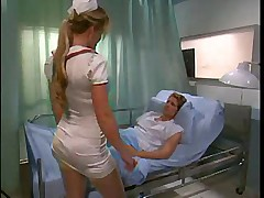 Babe nurse in stockings fuck patient when doctor is outdoor  -