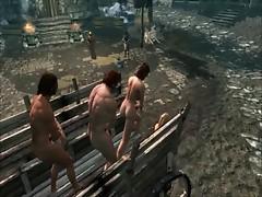 Perils of escaped Skyrim slavegirl 01