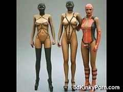 3D Kinky Latex Fantasy Babes
