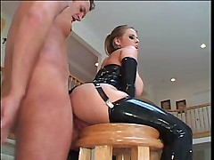 Daphne Rosen in latex - Anal sex video -