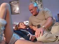 NastyPlace.org - Blonde Teen Girl Sierra Hard Anal Fucked By Old Man