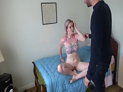 step sister is punished for going out and played with part 1