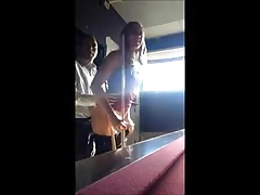 Girl getting fucked on the pooltable