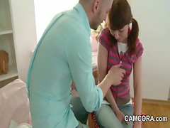 Skinny Step-Sister get anal fucked by her Step-Brother