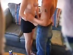 Russian sister and brother&#039_s friend caught by hidden camera - hotcam-girls.com