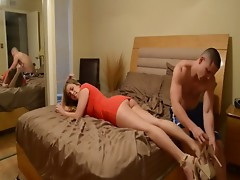 Massaging not His sisters Feet - more videos on lets-porn.com