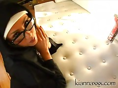 Sister Kianna - Big titted Nune stockings fucked hard