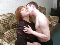Fat BBW Russian mature mom Son's friend