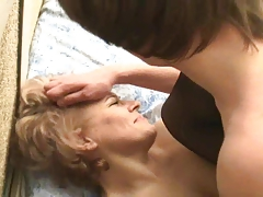 Russian mom is fucked by her Son's friend