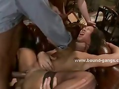 Asian sex toy forced to swallow cocks