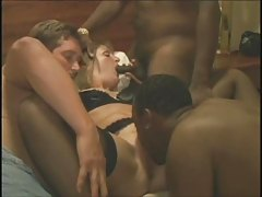 Hubby Shares His Wife With 2 Black Guys.elN