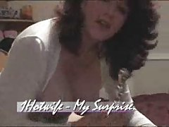 Mature wife with big pussy lips doing solo video for hubby