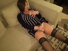 Japanese couple is having some nice hardcore fun at home