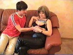 Auntie Teaches Her Nephew's buddy