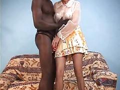 French granny love black cock