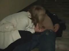 Real prostitute blows in Saint Petersburg street