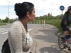 public- finger her ass
