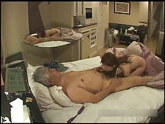 HiddenCam - Old Japanese man fuck call girl