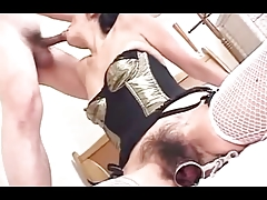 44yr old Very Hairy Japanese Mom Loves Cock (Uncensored)