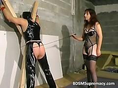 Dirty redhead mistress dominates this