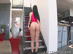 Katrina Jade amazing strip tease fun