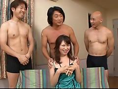 Oriental babe with smokin sexy tits masturbates