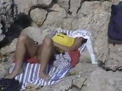 Amateur video in a nude public beach in Mallorca - hidden camera