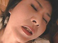 mature japanese ladie playing