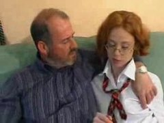 School teacher teaches schoolgirl how to fuck
