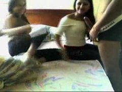 Teens at Colombia having fun at home BJ BJ