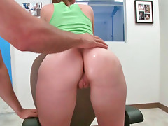 Busty babe Brooke gets banged from behind like a slut