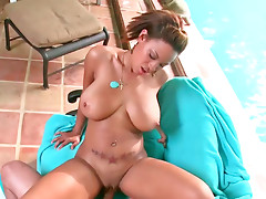 Busty ebony babe Natasha Dulce gets fucked hard