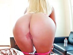 Blue eyed blonde took a stranger home to fuck him