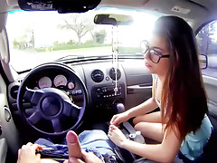 Ava Taylor fucks in the car and in the bed