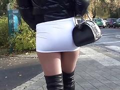 PUBLIC Sexy mini skirt & overknee boots Gianmarco lorenzi
