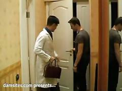 Concupiscent white BF invites Oriental ally to pound nasty girlfriend Katya