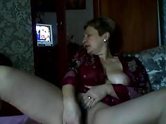 Hawt Russian aged mama Elena play on skype