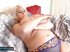 EuropeMature Old Fat Sami plays with large milk cans