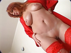 Lewd redheaded Older getting drilled