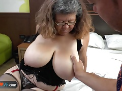 Agedlove grandmother with large bumpers gangbanged