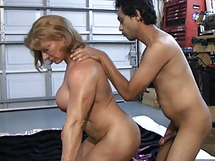 Muscle slut trains a abode thrall (2 of 3)