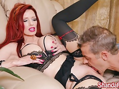 Cougar Shanda Fay Makes Him Cum and Eat it!