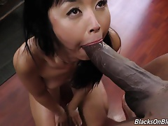 Oriental mama Marica Hase takes Huge black meat in all miniature holes