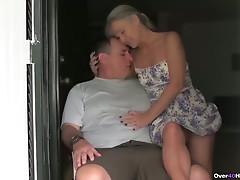 Aged pair tugjob