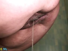 BBW older whore acquires drilled in a restroom