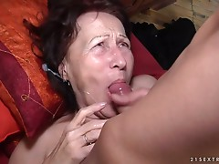 Old bitch jizz flow facial compilation part 1