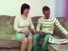 Mother Caught Step-Son And Entice Him to Fuck