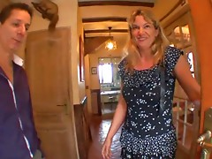 Gaelle golden-haired aged MILF receives anal job drilled after a oral