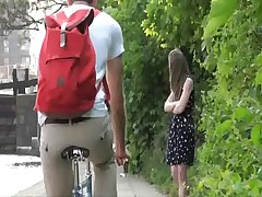 Cute british teen laura is hot, horny and in public  -