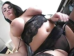 Angelica Sin - Awesome Bitch With Natural Big Boobs Rides a Cock